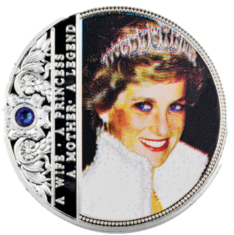 Picture of Diana In Colour With Blue Stone