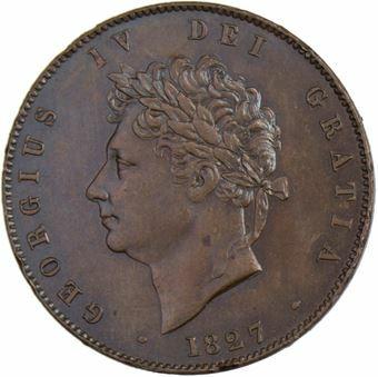 George IV_Halfpenny_1827_obv