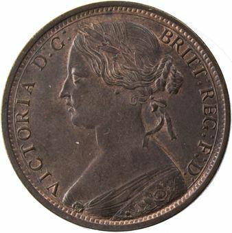 Victoria_1863_Penny_Obv