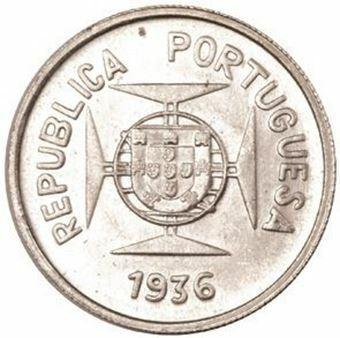 Picture of India, Portuguese India Half, Rupia 1936 Brilliant Uncirculated