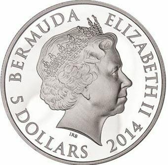 Picture of Bermuda, Elizabeth II, $5 Silver, 2014
