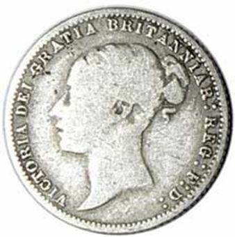Picture of Victoria, Young Head Sixpence, Fine