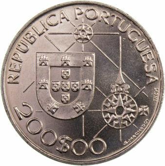 200_escudos_mundo_novo_new_world_1991_obv