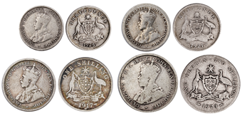 George V_3_Coin_Australian_Set