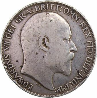 Edward_VII_1902_Crown_Very_Good_Obv