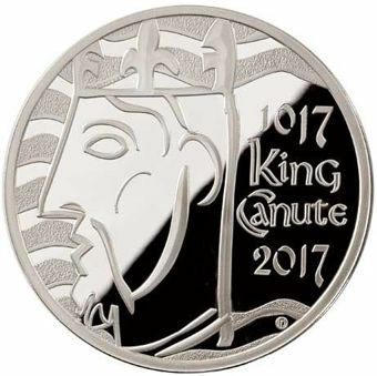 Picture of Elizabeth II, £5 (King Canute) 2017 Sterling  Silver Proof
