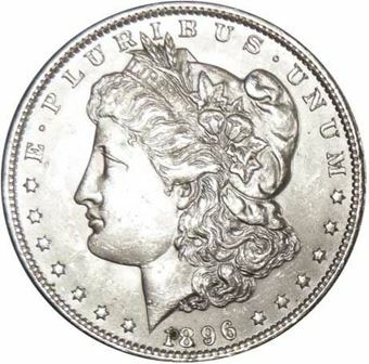 Picture of United States of America, Morgan Silver Dollar, Choice BU