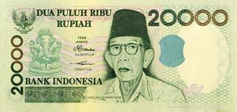 Picture of Indonesia 20,000 Rupiah P138 Unc