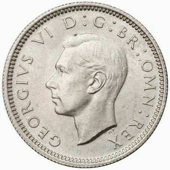 1944_Sixpence_Obv