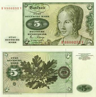 Federal Republic Germany 5 marks 1980 P30b Unc