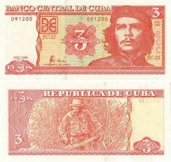 Cuba 3 Pesos 2006 P127 Unc