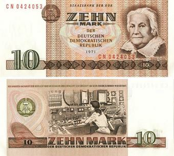 East Germany 10 marks 1971 P28 Unc