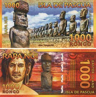 Easter Island 1000 Rongo 2011 Plastic Unc