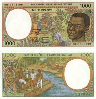Equatorial Guinea (as CAS) 1000 Francs 2000 P502N Unc