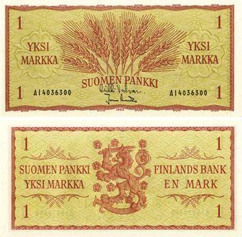 Finland 1 markaa 1963 P98 Unc