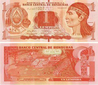 Honduras 1 Lempira 2014 P96b Unc