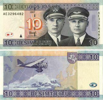 Lithuania 10 Litu 2007 P68 Unc