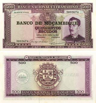 Mozambique 500 Escudos P118 Unc
