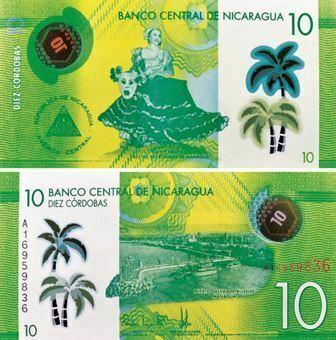 Picture of Nicaragua 10 Cordobas 2014  P209 Plastic Unc