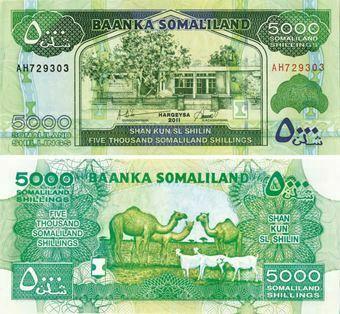 Picture of Somaliland 5000 Shilingi 2011 P21 Unc