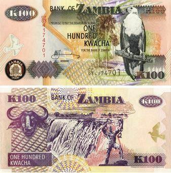 Picture of Zambia 100 kwacha P38 Unc