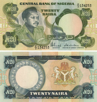 Picture of Nigeria 20 Naira P26 Unc
