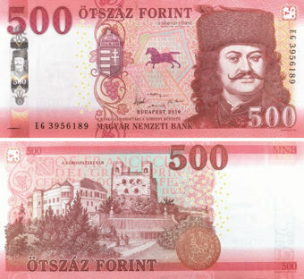 Picture of Hungary 500 Forint 2018 P-New Unc