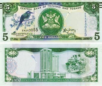 Picture of Trinidad & Tobago 5 Dollars 2006 P47 Unc