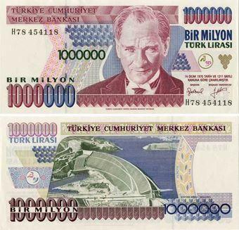 Picture of Turkey 1 Million Lirasi P213 Unc