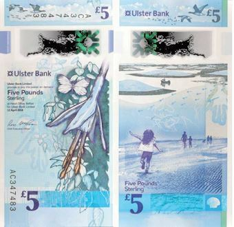 N Ireland Ulster Bank £5 2018 (2019) P-New Polymer Unc
