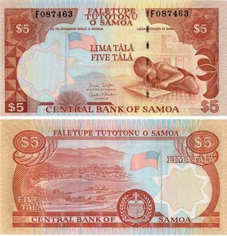 Western Samoa 5 Tala (2002) P33 Unc