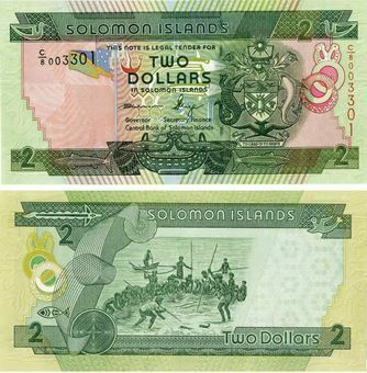 Solomon Islands 2 Dollars Paper P25