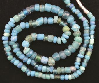 Ancient Roman, Turquoise Glass Bead Necklace