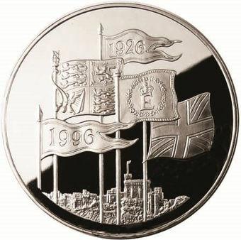 1996 70th Birthday £5 Silver Proof_rev