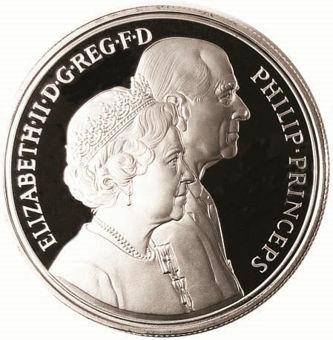 1997 Golden Wedding £5 Silver Proof_obv
