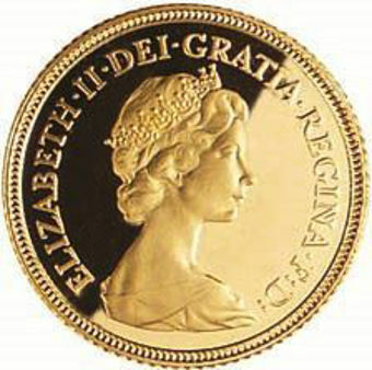 1982 Proof Gold Sovereign_obv