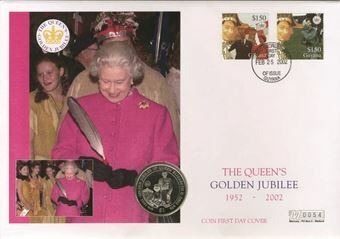 Golden Jubilee Sierra Leone Coin Cover_FDC