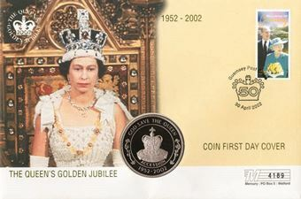 Golden Jubilee St. Helena Coin Cove_FDC