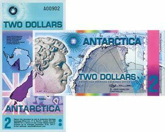 Picture of Antarctica 2 Dollars Plastic James Ross