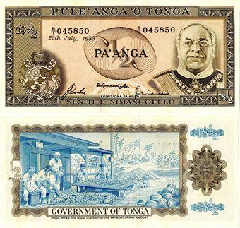 Picture of Tonga Half Pa'anga 1983 P18c Unc