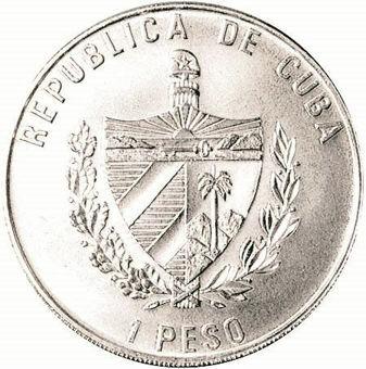 Picture of Cuba, 1 Peso (50th Anniversary of UN), 1995 Cupro-nickel