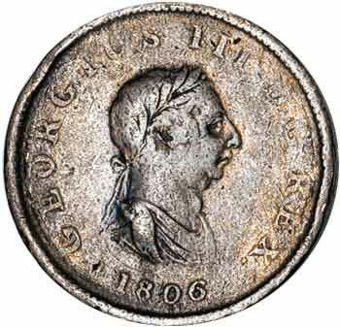 Picture of George III, Halfpenny, 1806/7 Very Good