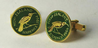 Picture of New Zealand Cuff Links Green