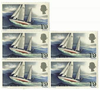 Picture of Sir Francis Chichester 1967 World Voyage 1/9 Stamp