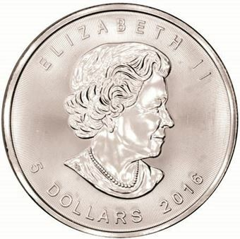 Picture of Canada, $5 2016 Maple Leaf  BU
