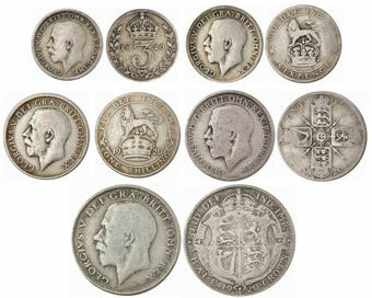 Picture of George V, Silver Set 1920