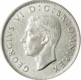 Picture of George VI, Florin 1945 Uncirculated