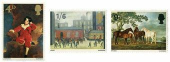 4_Sets_of_3_1967_Painting_Stamps_Mint