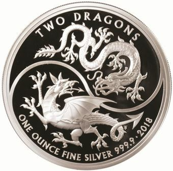 Picture of Elizabeth II, £2 Two Dragons, Proof in Capsule