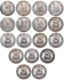 Picture of George V, Silver Shilling Set